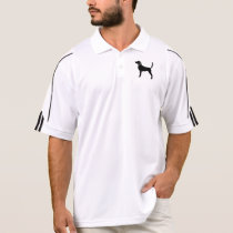 English Foxhound Silhouettte Polo Shirt