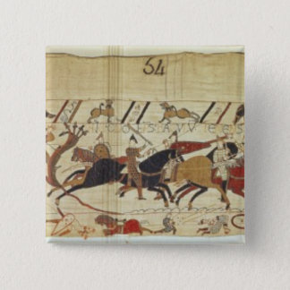 English & French soldiers fall side by side Pinback Button