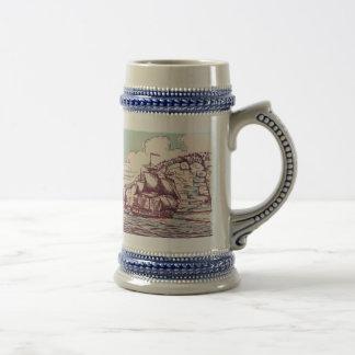 English Frigate 1745 Beer Stein