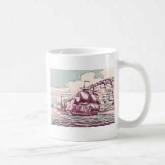 English frigate off the Canadian coast Coffee Mug