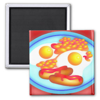 English Fry-up Refrigerator Magnets