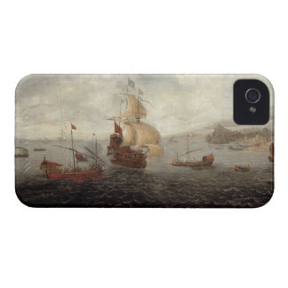 English Galley Frigate Flanked by Ottoman State Ba iPhone 4 Case-Mate Case