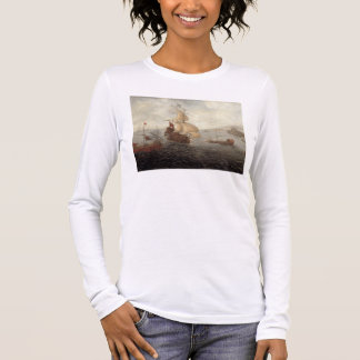 English Galley Frigate Flanked by Ottoman State Ba Long Sleeve T-Shirt