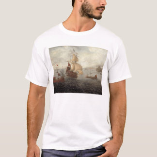 English Galley Frigate Flanked by Ottoman State Ba T-Shirt