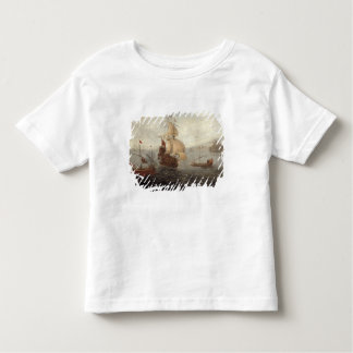 English Galley Frigate Flanked by Ottoman State Ba Toddler T-shirt