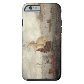 English Galley Frigate Flanked by Ottoman State Ba Tough iPhone 6 Case
