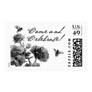 English Garden B by Ceci New York Postage Stamp
