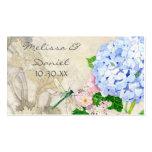 English Garden, Blue n Pink Hydrangeas Watercolor Business Card