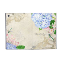 English Garden, Blue n Pink Hydrangeas Watercolor Case For iPad Mini