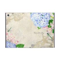 English Garden, Blue n Pink Hydrangeas Watercolor Case For iPad Mini