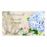 English Garden, Blue n Pink Hydrangeas Watercolor Double-Sided Standard Business Cards (Pack Of 100)