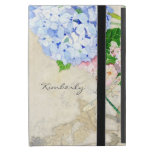 English Garden, Blue n Pink Hydrangeas Watercolor iPad Mini Cover