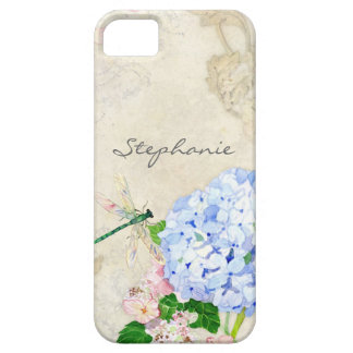 English Garden, Blue n Pink Hydrangeas Watercolor iPhone SE/5/5s Case
