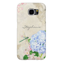 English Garden, Blue n Pink Hydrangeas Watercolor Samsung Galaxy S6 Case