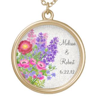 English Garden Bouquet Bridal Necklace