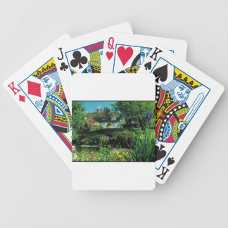 English garden & cottage bicycle playing cards