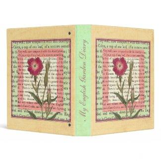 English Garden Cottage Charm Botanical binder