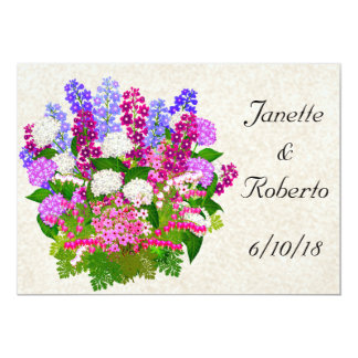 English Garden Floral Bouquet Save the Date Card