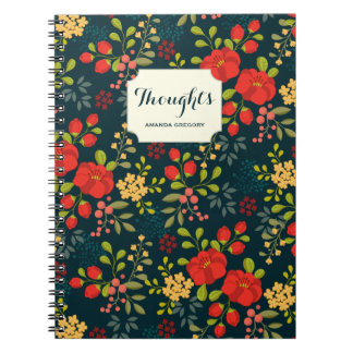 English Garden Floral Personalized Notebook
