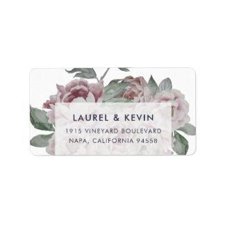 English Garden | Floral Return Address Labels
