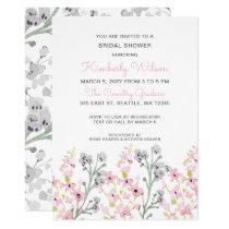english garden Floral Wedding Bridal Shower Card