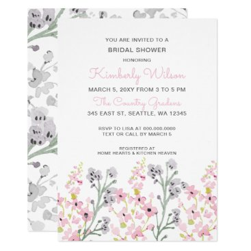 english garden Floral Wedding Bridal Shower Card