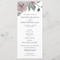 English Garden Floral Wedding Program
