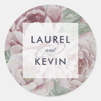 English Garden Floral Wedding Stickers
