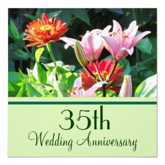 English Garden Florals 35th Anniversary Invitation