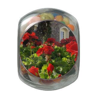 English Garden Glass Candy Jars