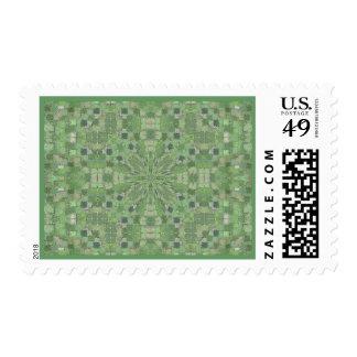 English Garden Maze Postage Stamp