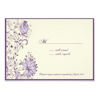 English Garden RSVP card
