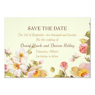 English Garden Shrub Roses 3.5x5 Paper Invitation Card