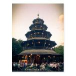 English Garden tower, Munchen Post Card