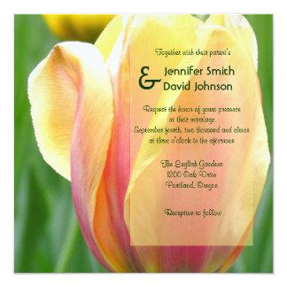 English Garden Tulip Wedding Invitation
