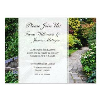 English Garden Wedding Card