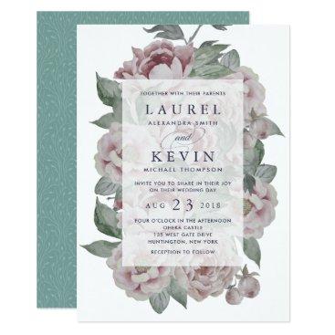 RedwoodAndVine English Garden Wedding Invitation