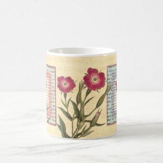 English Gardener Cottage Botanical Collage Coffee Mug