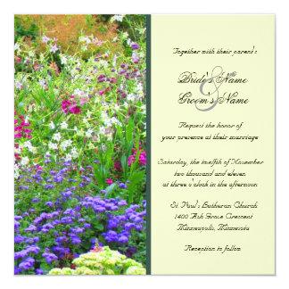 English Gardens Wedding Invitation