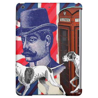 English Gentleman Telephone Booth union jack flag Cover For iPad Air