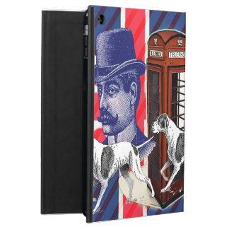 English Gentleman Telephone Booth union jack flag iPad Air Cover