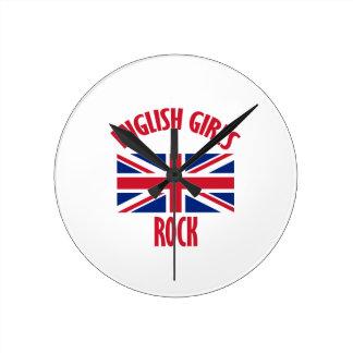 English girls DESIGNS Round Clock