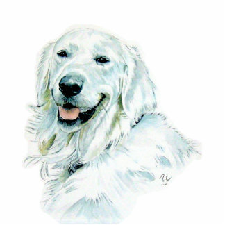 English Golden Retriever Sculpture Standing Photo Sculpture