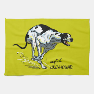 english greyhound kitchen towel