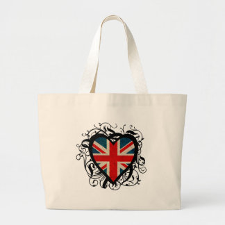 English Heart Large Tote Bag
