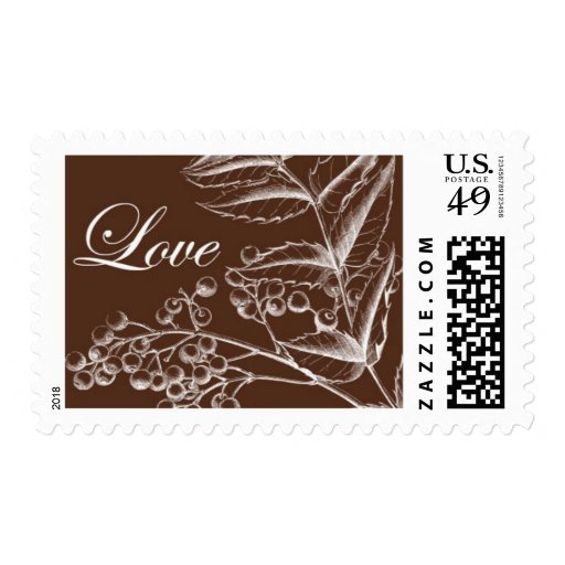 English Holly B by Ceci New York Postage Stamp