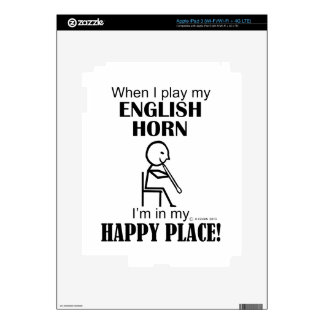 English Horn Happy Place Decal For iPad 3