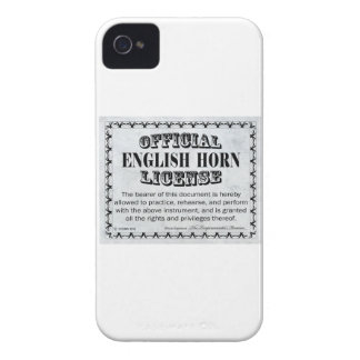 English Horn License iPhone 4 Case-Mate Case
