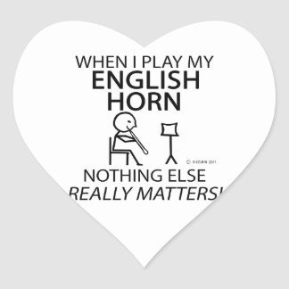 English Horn Nothing Else Matters Heart Sticker