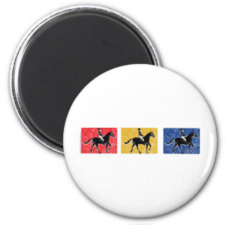 English Horse and Rider 2 Inch Round Magnet